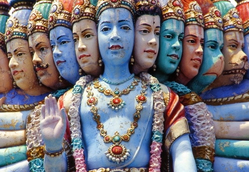working with deities: Krishna's many faces